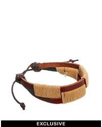 hellbeige geflochtenes Armband von Reclaimed Vintage