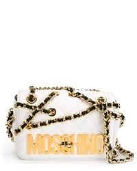 hellbeige gesteppte Leder Umhängetasche von Moschino