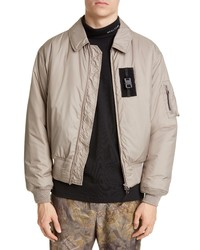 hellbeige Harrington-Jacke