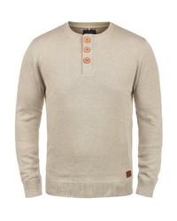 hellbeige Henley-Pullover von BLEND