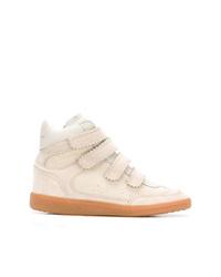 hellbeige hohe Sneakers aus Wildleder von Isabel Marant