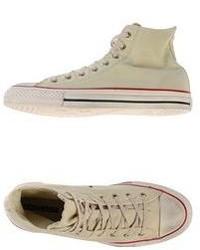 hellbeige hohe Sneakers