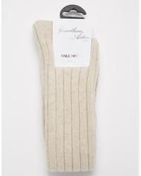 hellbeige hohe Socken von Jonathan Aston