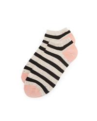 hellbeige horizontal gestreifte Socken von Madewell