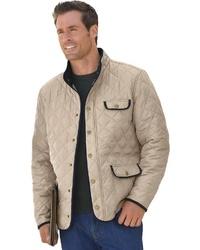 hellbeige Jacke mit einer Kentkragen und Knöpfen von MARCO DONATI