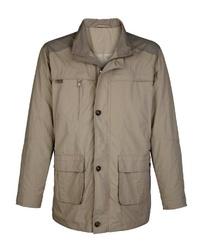 hellbeige Jacke mit einer Kentkragen und Knöpfen von ROGER KENT
