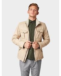 hellbeige Jacke mit einer Kentkragen und Knöpfen von Tom Tailor Denim