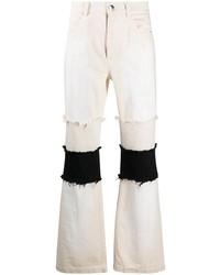 hellbeige Jeans mit Flicken von Marni