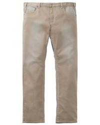 hellbeige Jeans von MEN PLUS BY HAPPY SIZE