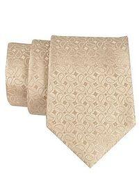 hellbeige Krawatte mit Paisley-Muster