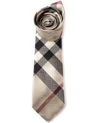 hellbeige Krawatte mit Schottenmuster von Burberry