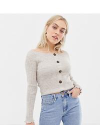 hellbeige kurzer Pullover von Asos Petite