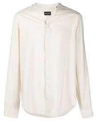 hellbeige Langarmhemd von Giorgio Armani