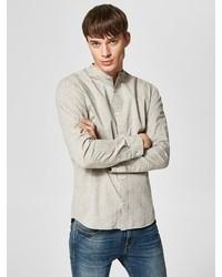 hellbeige Langarmhemd von Selected Homme