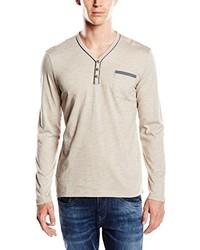 hellbeige Langarmshirt von Tom Tailor