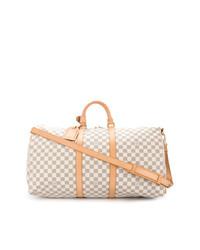 hellbeige Leder Reisetasche von Louis Vuitton Vintage