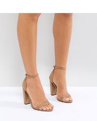 hellbeige Leder Sandaletten von ASOS DESIGN