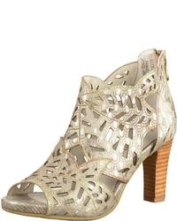 hellbeige Leder Sandaletten von Laura Vita