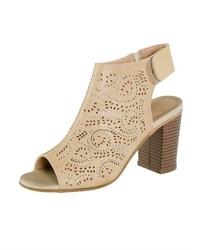 hellbeige Leder Sandaletten von Liva Loop