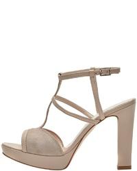 hellbeige Leder Sandaletten von PoiLei