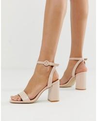 hellbeige Leder Sandaletten von RAID