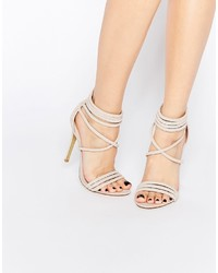 Hellbeige Leder Sandaletten