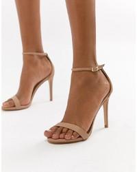 hellbeige Leder Sandaletten von Steve Madden