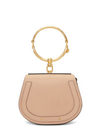 hellbeige Lederhandtasche von Chloé