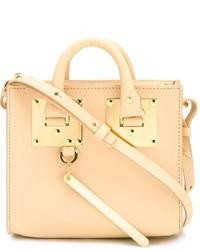 hellbeige Lederhandtasche von Sophie Hulme