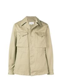 hellbeige leichte Shirtjacke von Maison Margiela
