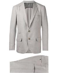 hellbeige Leinen Anzug von Brunello Cucinelli