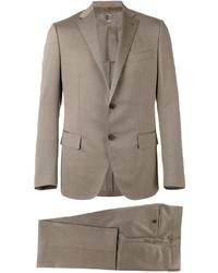 hellbeige Leinen Anzug von Caruso