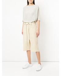 hellbeige Leinen Bermuda-Shorts von Toogood