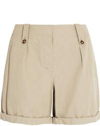 hellbeige Leinen Shorts