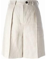 hellbeige Leinen Shorts von Carven