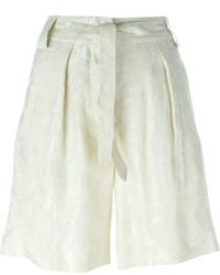 hellbeige Leinen Shorts von Etro