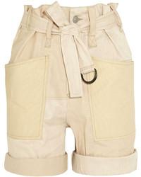 hellbeige Leinen Shorts von Isabel Marant
