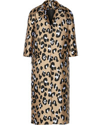 hellbeige Mantel mit Leopardenmuster von ADAM by Adam Lippes