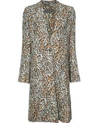 hellbeige Mantel mit Leopardenmuster von Raquel Allegra