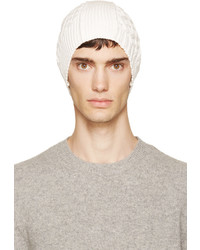 hellbeige Mütze von Maison Margiela