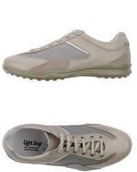 hellbeige niedrige Sneakers