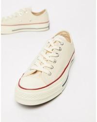 hellbeige niedrige Sneakers von Converse