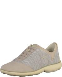 hellbeige niedrige Sneakers von Geox