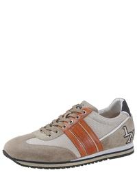 hellbeige niedrige Sneakers von La Martina