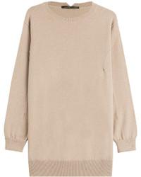 hellbeige Oversize Pullover