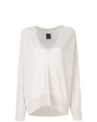 hellbeige Oversize Pullover von Christian Wijnants
