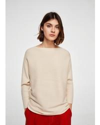 hellbeige Oversize Pullover von Mango