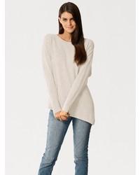 hellbeige Oversize Pullover von PATRIZIA DINI by Heine
