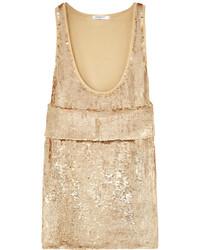 hellbeige Pailletten Trägershirt von Givenchy