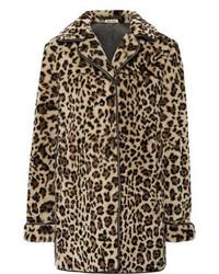 hellbeige Pelz mit Leopardenmuster von Miu Miu